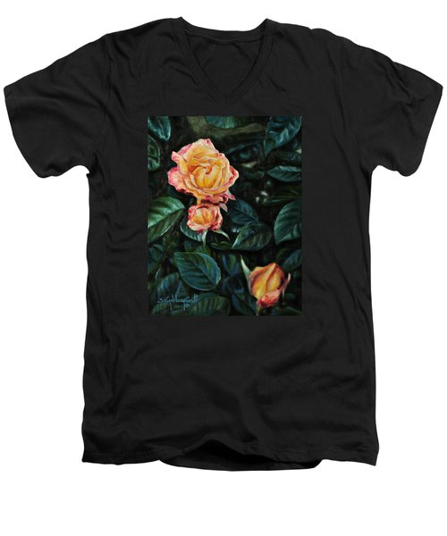 Lake J Rose Men's V-Neck T-Shirt by Craig T Burgwardt