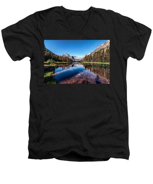 Lake Josephine Men's V-Neck T-Shirt by Aaron Aldrich