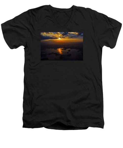 Lake Norman Sunrise Men's V-Neck T-Shirt