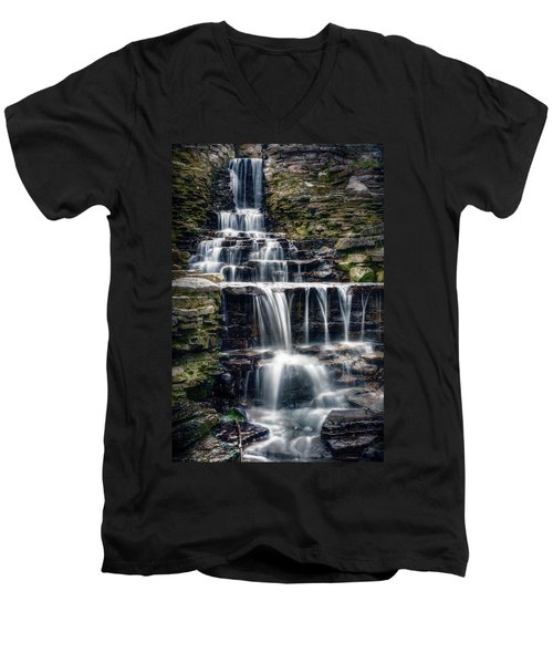 Lake Park Waterfall Men's V-Neck T-Shirt