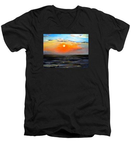 Lake Pontchartrain Sunset  Men's V-Neck T-Shirt