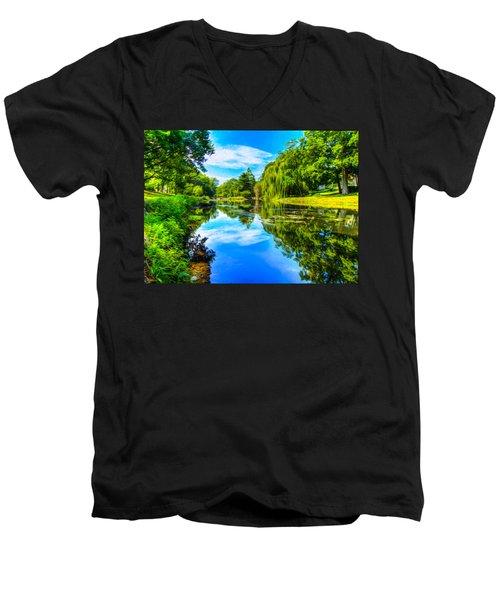 Lake Scene Men's V-Neck T-Shirt