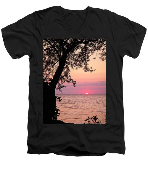 Lake Sunset Men's V-Neck T-Shirt by Aimee L Maher Photography and Art Visit ALMGallerydotcom