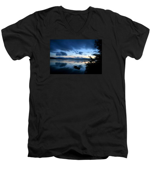 Lake Umbagog Sunset Blues No. 2 Men's V-Neck T-Shirt
