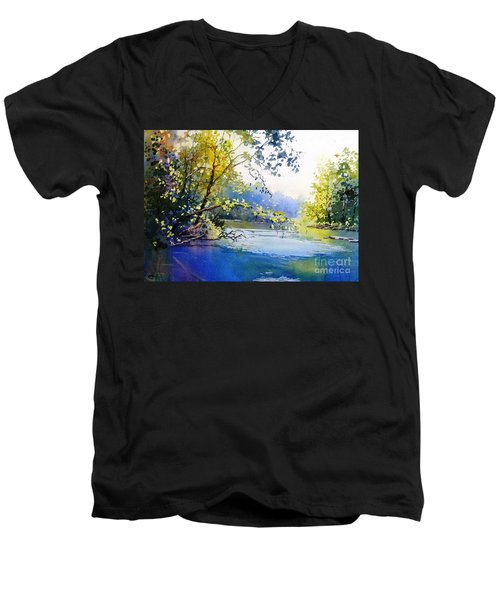 Lake View 2  Men's V-Neck T-Shirt