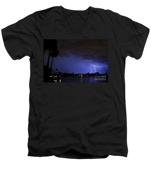 Lake Weatherly  Men's V-Neck T-Shirt by Quinn Sedam