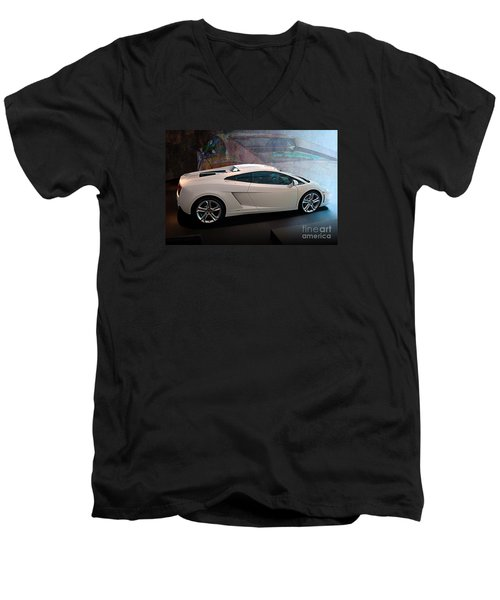 Lamborghini Gallardo Lp550-2 Side View Men's V-Neck T-Shirt