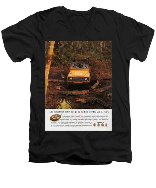 Land Rover Defender 90 Ad Men's V-Neck T-Shirt