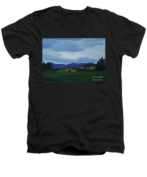 Landscape Of Sola Norway Men's V-Neck T-Shirt