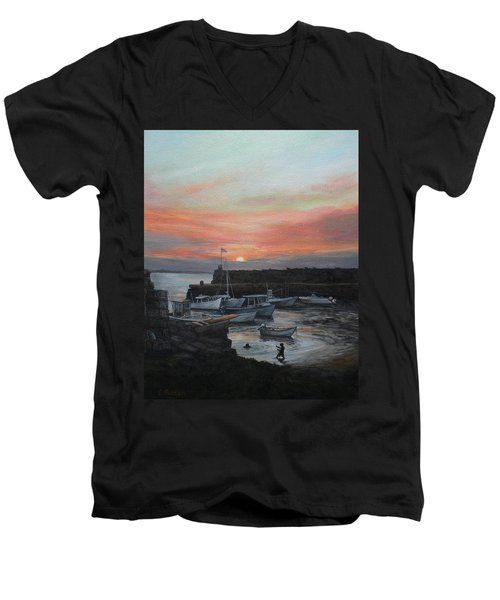 Lanes Cove Sunset Men's V-Neck T-Shirt