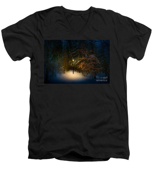 Lantern In The Wood Men's V-Neck T-Shirt