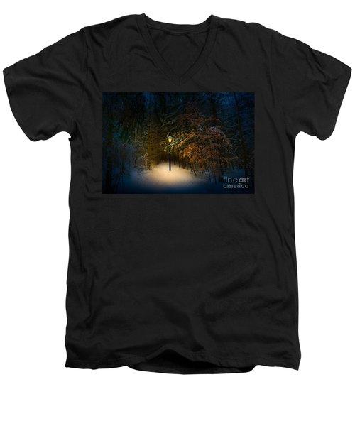Lantern In The Wood Men's V-Neck T-Shirt