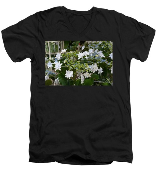 Men's V-Neck T-Shirt featuring the photograph Shooting Star Bouquet by Jeannie Rhode