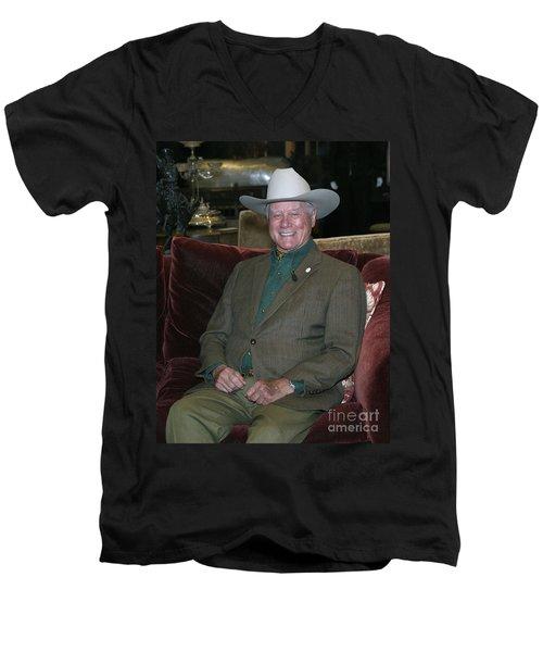 Larry Hagman Men's V-Neck T-Shirt