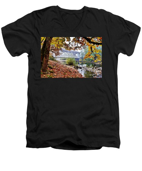 Larwood Covered Bridge Men's V-Neck T-Shirt