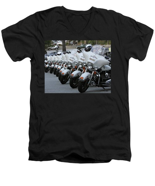 Men's V-Neck T-Shirt featuring the photograph La's Finest by Shoal Hollingsworth