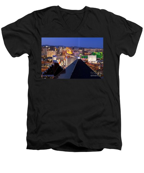 Las Vegas Skyline Men's V-Neck T-Shirt