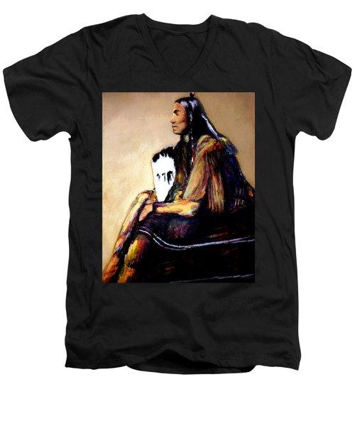 Quanah Parker- The Last Comanche Chief Men's V-Neck T-Shirt