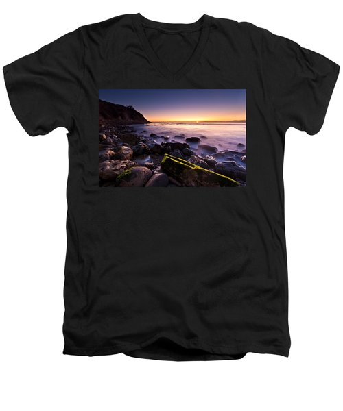 Men's V-Neck T-Shirt featuring the photograph Last Ray by Mihai Andritoiu