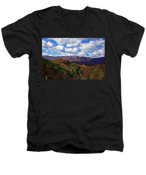 Late Autumn Beauty Men's V-Neck T-Shirt by Tom Culver