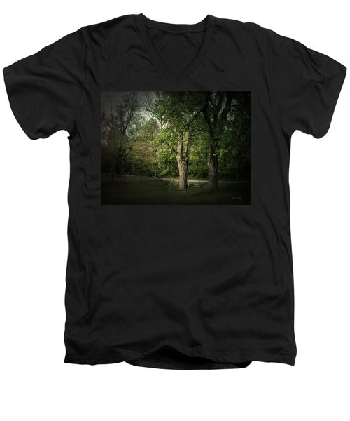 Men's V-Neck T-Shirt featuring the photograph Late Day Drive by Cynthia Lassiter