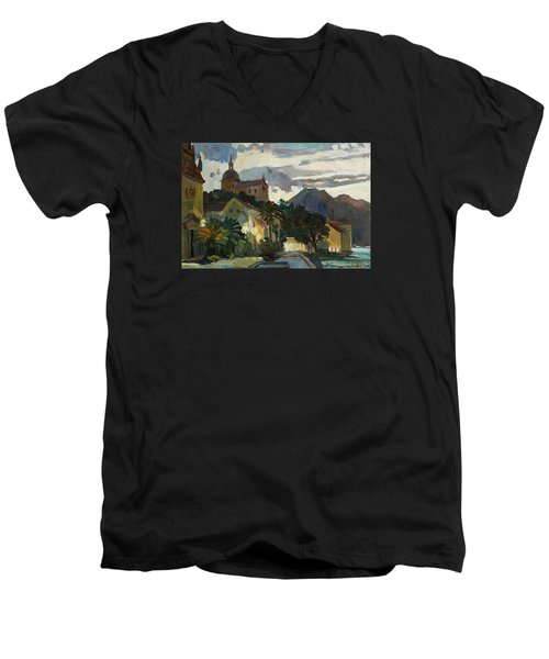 Late Evening In The Prcanj Men's V-Neck T-Shirt