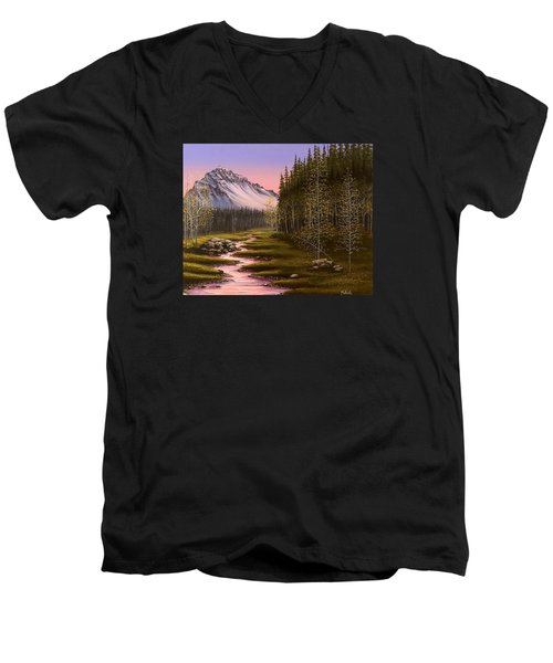 Late In The Day Men's V-Neck T-Shirt by Jack Malloch