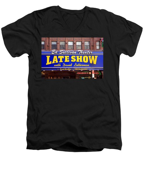 Late Show New York Men's V-Neck T-Shirt