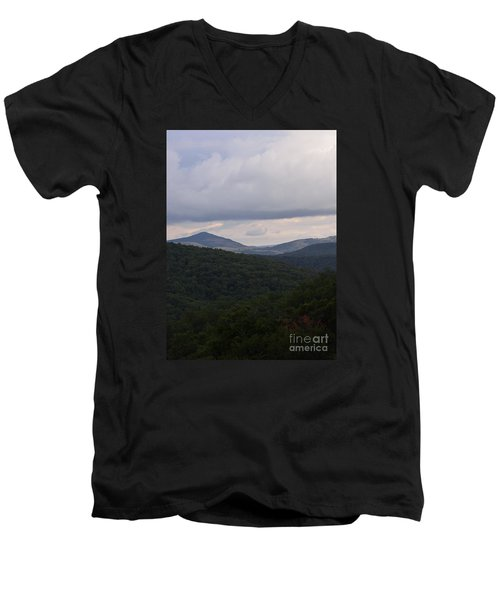 Laurel Fork Overlook 1 Men's V-Neck T-Shirt by Randy Bodkins