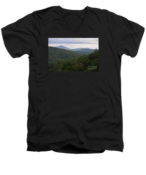 Laurel Fork Overlook II Men's V-Neck T-Shirt by Randy Bodkins