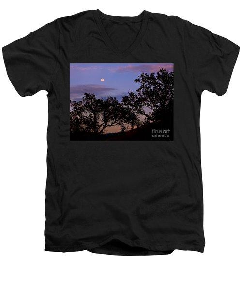 Lavender Moon Twilight Men's V-Neck T-Shirt
