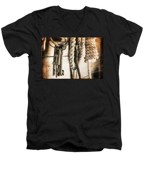 Law And Order Men's V-Neck T-Shirt