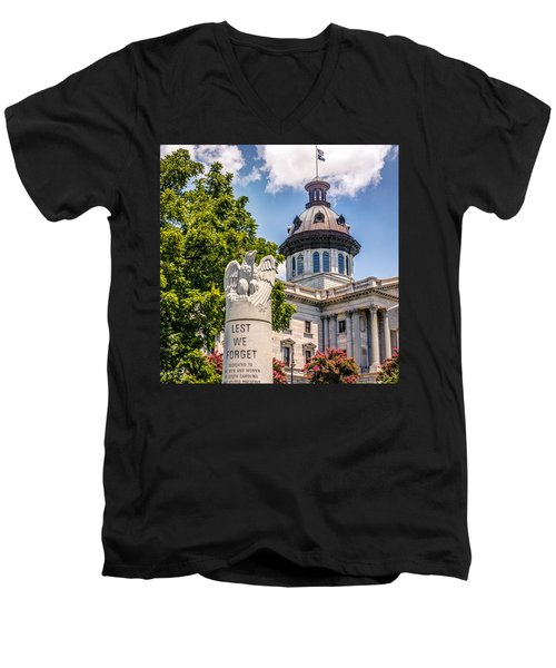 Men's V-Neck T-Shirt featuring the photograph Law Enforcement Memorial by Rob Sellers