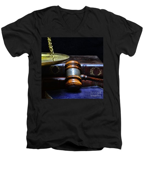 Lawyer - Books Of Justice Men's V-Neck T-Shirt