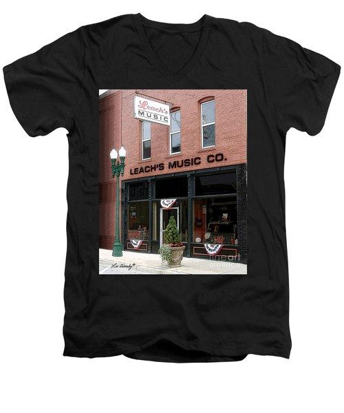 Leach's Music Men's V-Neck T-Shirt