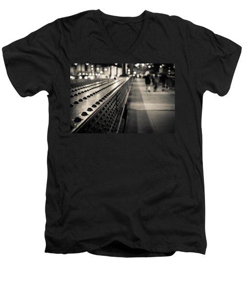 Leading Across Men's V-Neck T-Shirt by Melinda Ledsome