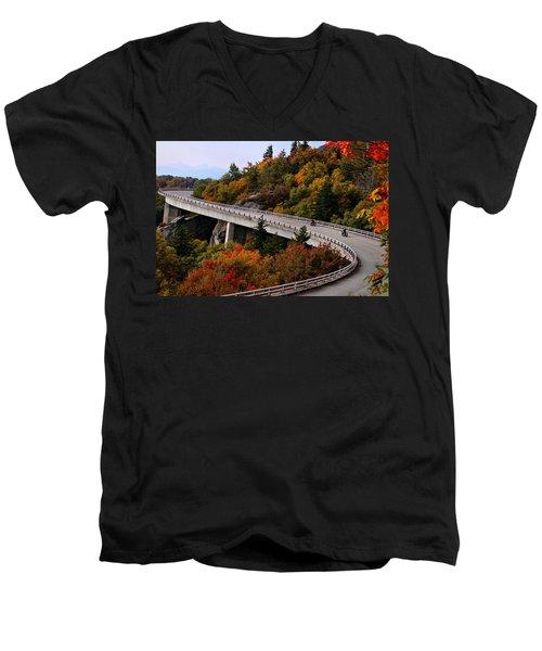 Lean In For A Ride Men's V-Neck T-Shirt