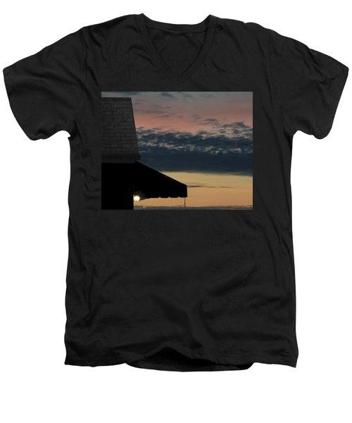 Leave The Light On Men's V-Neck T-Shirt