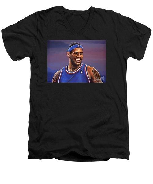 Lebron James  Men's V-Neck T-Shirt by Paul Meijering