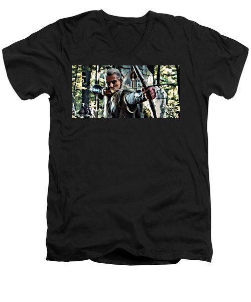 Legolas Men's V-Neck T-Shirt by Florian Rodarte