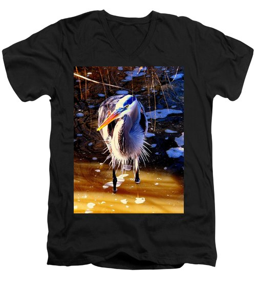 Men's V-Neck T-Shirt featuring the photograph Legs by Faith Williams