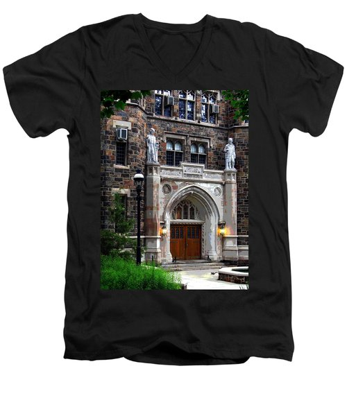 Men's V-Neck T-Shirt featuring the photograph Lehigh University Bethlehem Packard Laboratory by Jacqueline M Lewis