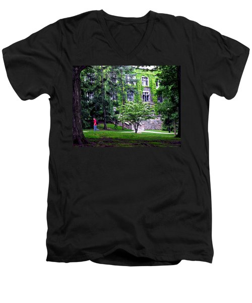 Lehigh University Campus Men's V-Neck T-Shirt