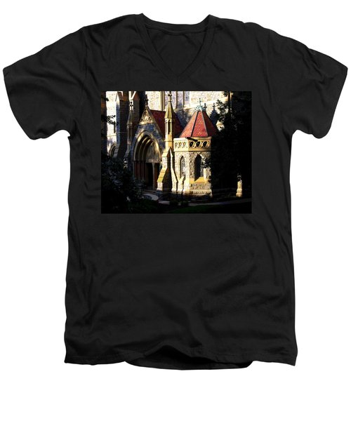 Men's V-Neck T-Shirt featuring the photograph Lehigh University Packer Memorial Chapel Baptistry by Jacqueline M Lewis