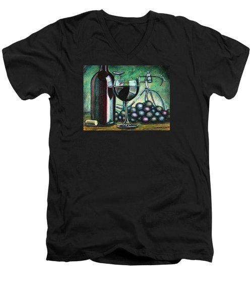 L'eroica Still Life Men's V-Neck T-Shirt by Mark Jones