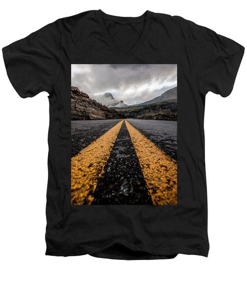 Less Traveled Men's V-Neck T-Shirt