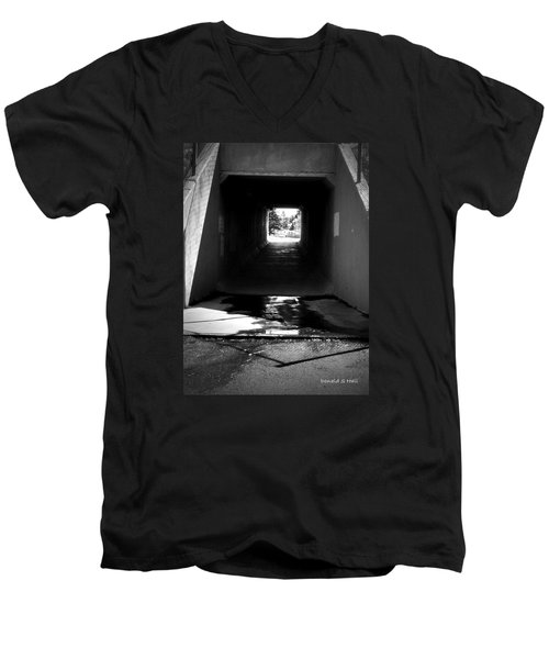 Lethbridge Underpass Men's V-Neck T-Shirt by Donald S Hall