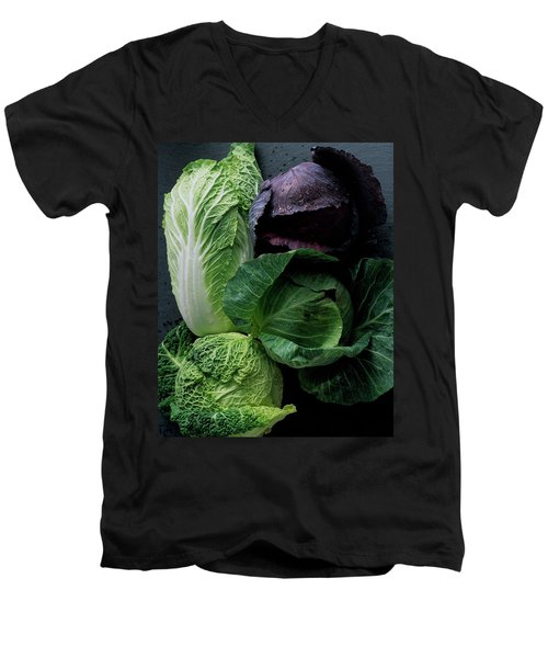 Lettuce Men's V-Neck T-Shirt by Romulo Yanes