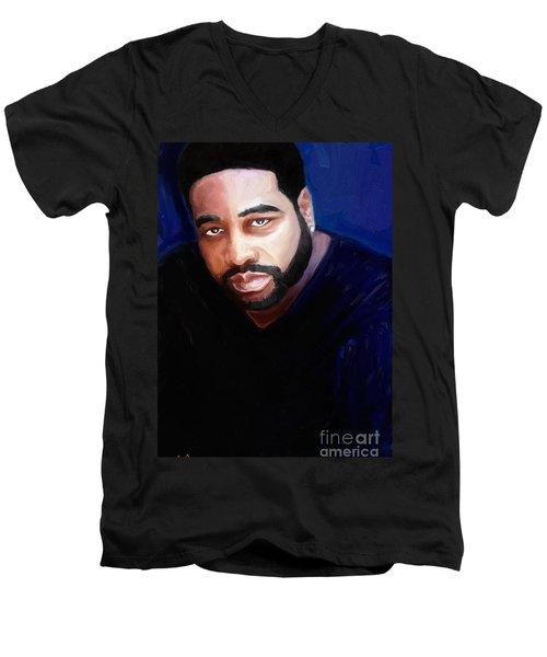 Levert Men's V-Neck T-Shirt by Vannetta Ferguson