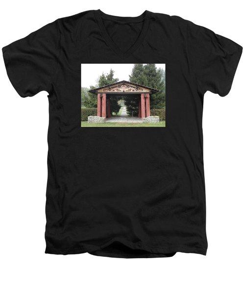 Lheit-li Nation Burial Grounds Entrance Men's V-Neck T-Shirt